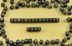 The word administrative case Royalty Free Stock Images