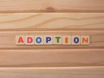 Word Adoption on wood