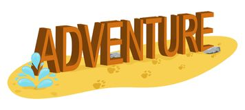 Word Adventure in the desert Royalty Free Stock Photo