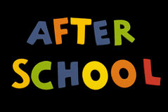 Word After School Royalty Free Stock Photos
