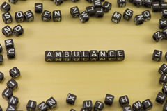 Word Ambulance Royalty Free Stock Image