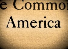 Word America Royalty Free Stock Photos