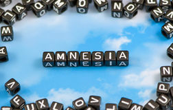 The word amnesia Royalty Free Stock Images