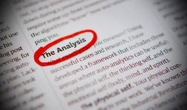 Word The Analysis Royalty Free Stock Photography
