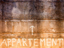 Word apartment Stock Images