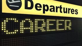CAREER word appearing on departure board. 3D rendering Royalty Free Stock Photography