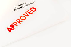 Word Approved on Paper Royalty Free Stock Images