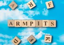 The word Armpits royalty free stock photos