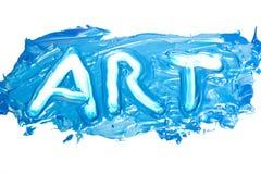 Word - ART. Word ART written in artistic way Royalty Free Stock Photos