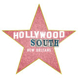 Word Art Hollywood South New Orleans royalty-vrije illustratie
