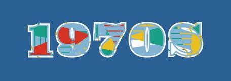 Word Art Illustration van het jaren '70concept vector illustratie