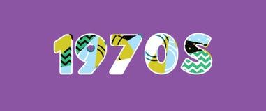 Word Art Illustration van het jaren '70concept stock illustratie