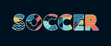 Word Art Illustration van het voetbalconcept royalty-vrije illustratie