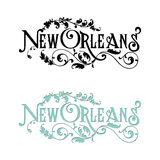 Word Art New Orleans Vintage Postcard Royalty Free Stock Images