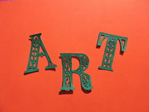Word ART. Paper cutting. Royalty Free Stock Photo