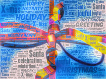 Word art representation of a Christmas gift pack Stock Photos