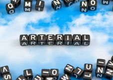 The word arterial. On the sky background royalty free stock photo