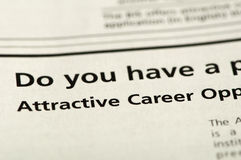 Word Attractive Career Stock Photography