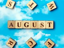 The word August Stock Photo