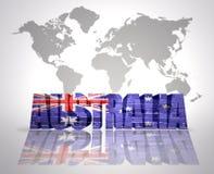 Word Australia stock illustration