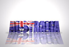 Word Australia on the white background royalty free illustration