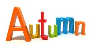 Word autumn with colourful letters Royalty Free Stock Image