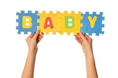 The word baby Stock Photos