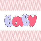 Word Baby in cartoon style Stock Images