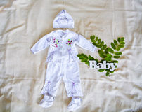 Word baby and child clothing Stock Photo