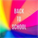 Word Back to School. Rainbow coloured umbrella Royalty Free Stock Image