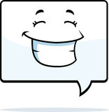 Word Balloon Smiling. A cartoon word balloon smiling and happy vector illustration