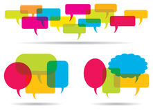 Word Balloons. A colour word balloon set Royalty Free Stock Photography