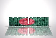 Word Bangladesh sur le fond blanc Image libre de droits