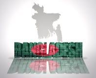 Word Bangladesh sur un fond de carte Photo libre de droits