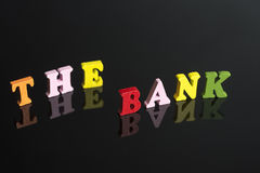 A word Bank on a black background. stock photos