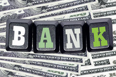 The word  bank  on your keyboard keys Stock Photography