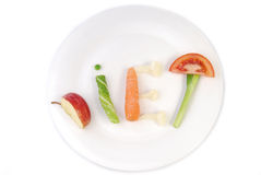 Word bantar gjort av grönsaker arkivfoto