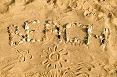 Word BEACH Stock Image
