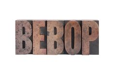 The word 'bebop' Stock Image