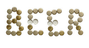 Word BEER Royalty Free Stock Image