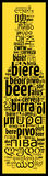 Word Beer in different languages Stock Photography