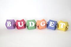 Word begroting Stock Foto