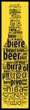 Word Bier in verschillende talen Stock Fotografie