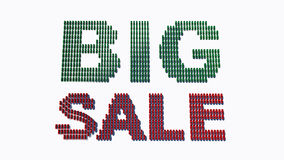 Word BIG SALE made from cars Stock Photos