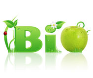 Word Bio ecological design Royalty Free Stock Images