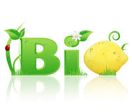 Word Bio ecological design Royalty Free Stock Photography