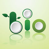 Word bio infographics design Stock Photography