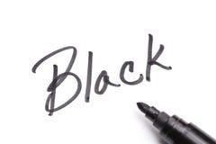 Black marker Stock Images