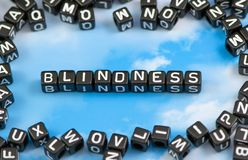 The word Blindness stock photos