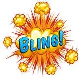 Word bling Stock Image